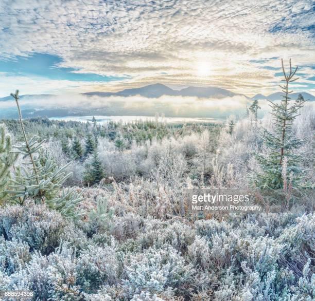 Frozen Highlands #1  Valley near River Moriston and Loch Cluanie