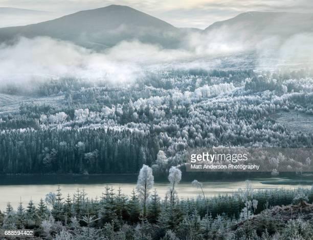 Frozen Highlands #2 Valley near River Moriston and Loch Cluanie