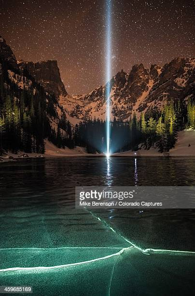 Frozen Illumination At Dream Lake