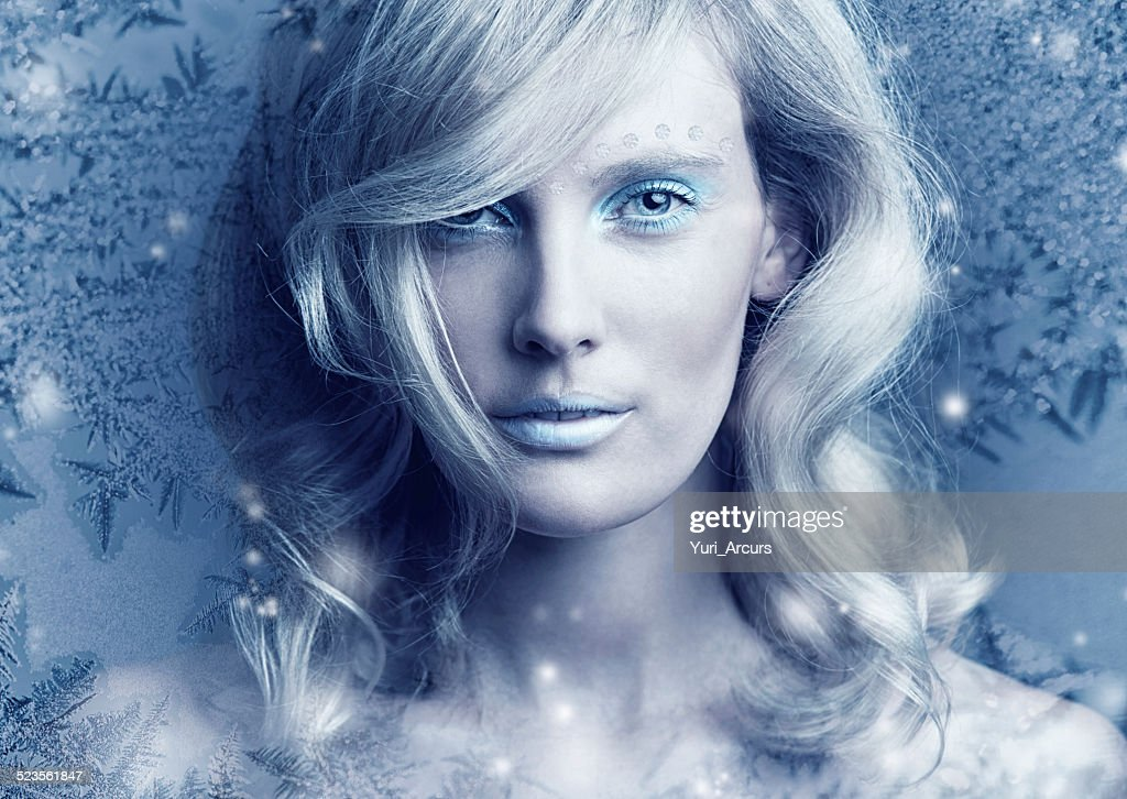 Frozen in her perfection : Stock Photo