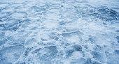 Frozen lake, Ice texture background