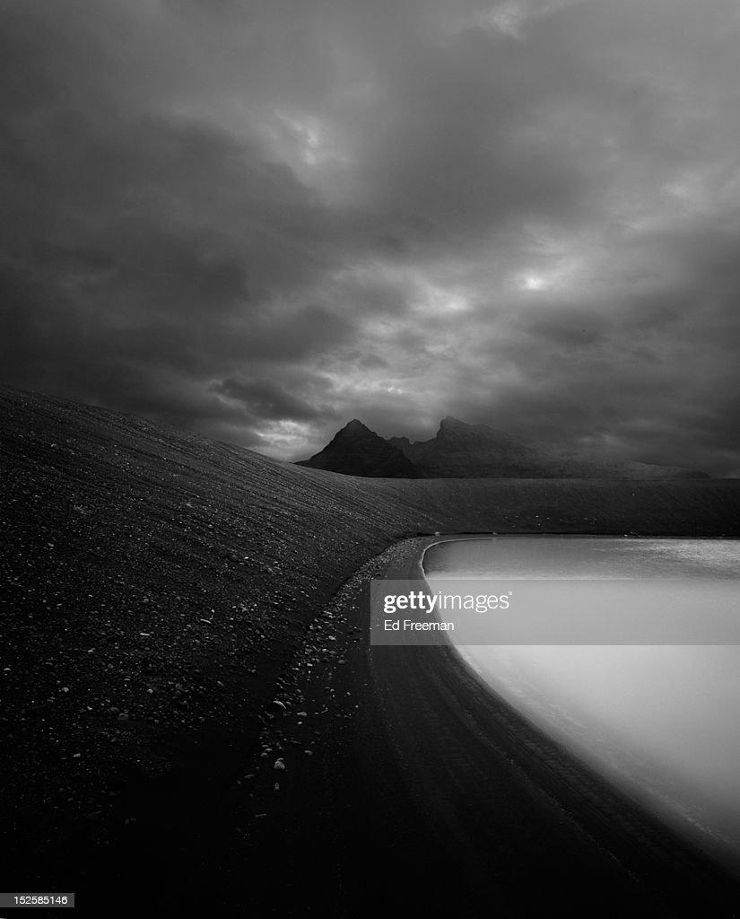 Frozen Lake, Iceland : Stock Photo