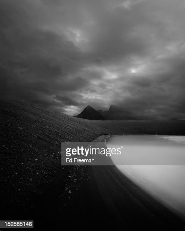 Frozen Lake, Iceland : Stock Photo