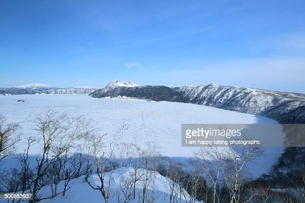 Frozen Lake Mashu.