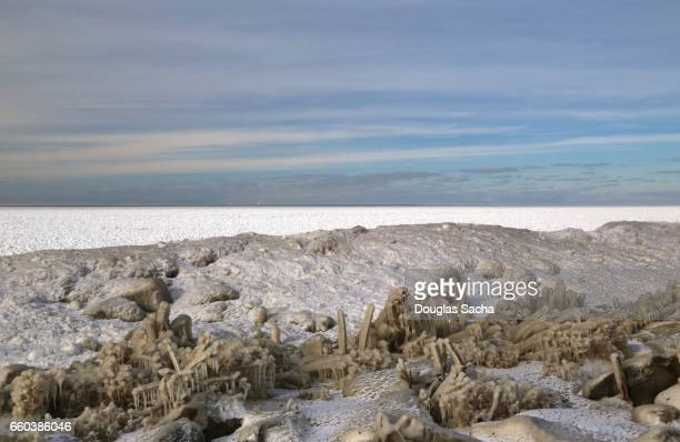 Frozen Landscape over the Great Lakes