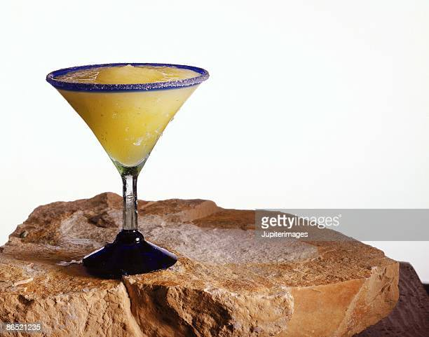Frozen margarita on sandstone
