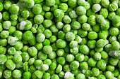 pattern of green frozen peas