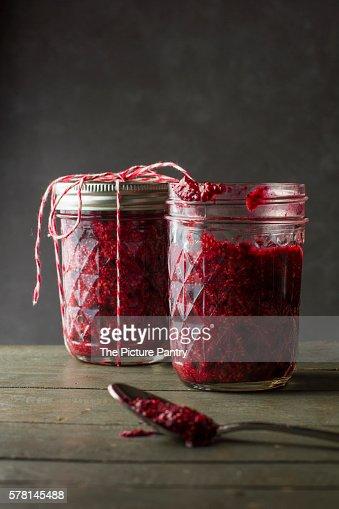 Frozen Rasberry Chia Seed Jam.