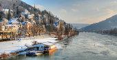 Frozen River Neckar, Heidelberg