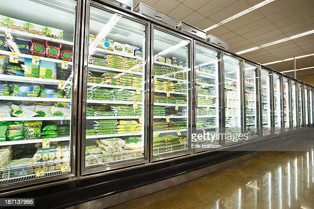 Frozen section of grocery store