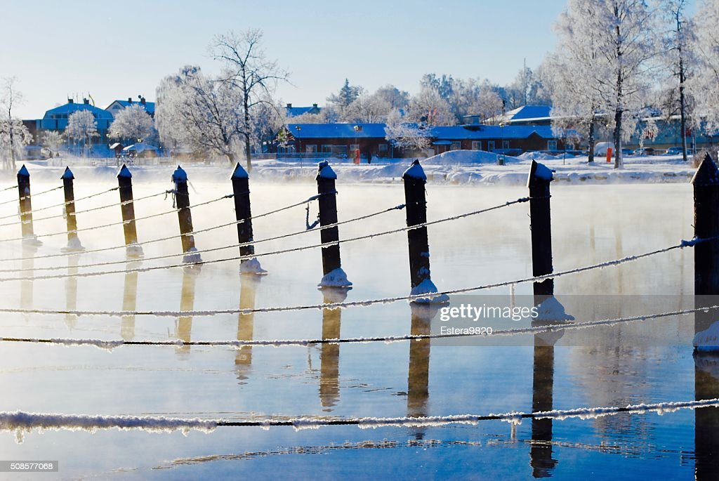 Frozen water : Stock Photo