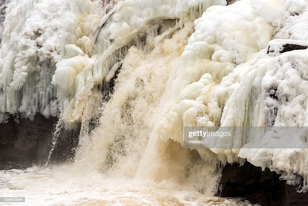 Frozen Waterfall : Stock Photo