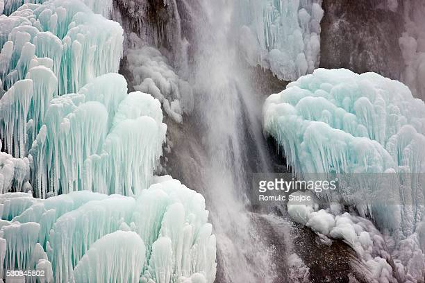Frozen waterfall, Plitvice Lakes, National Park, Croatia