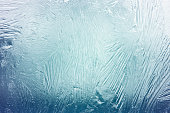 Abstract ice shapes on frozen window; Adobe RGB color space;see other similar images: