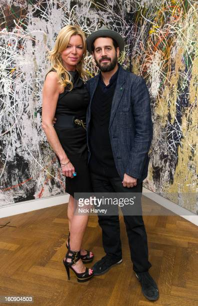Fru Tholstrup and Jose Parla attend the private view of Jose Parla Broken Language at Haunch of Venison on February 7 2013 in London England
