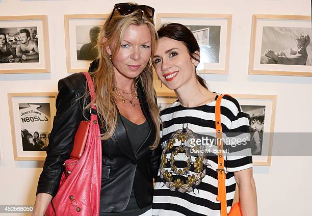 Fru Tholstrup and Lara Bohinc attend a private view of 'Dennis Hopper Russell Young Lost Angels' the new exhibition at the Mead Carney Gallery on...