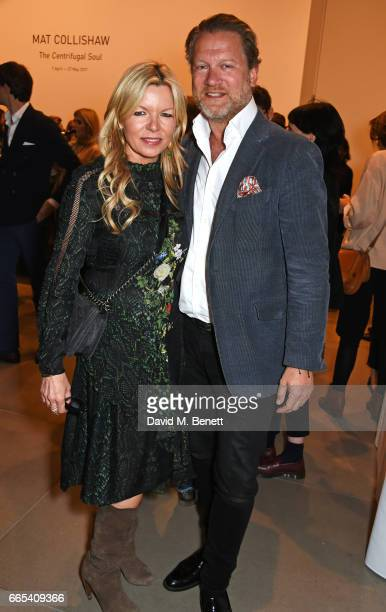 Fru Tholstrup and Soren Tholstrup attend the Private View of 'Centrifugal Soul' by Mat Collishaw at Blain Southern on April 6 2017 in London England