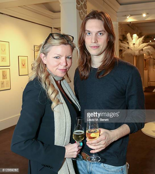 Fru Tholstrup and Urberto attends The Perfumer's Story Azzi Glasser in conversation with Jack Guinness hosted by the British Fashion Council Fashion...