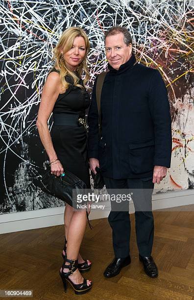 Fru Tholstrup and Viscount David Linley attend the private view of Jose Parla Broken Language at Haunch of Venison on February 7 2013 in London...
