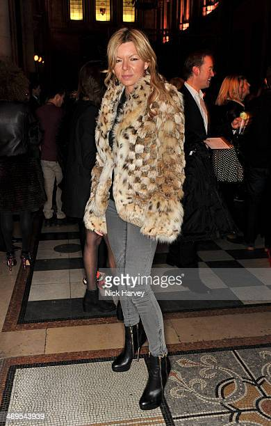 Fru Tholstrup attends the Julien Macdonald show at London Fashion Week AW14 at Royal Courts of Justice Strand on February 15 2014 in London England