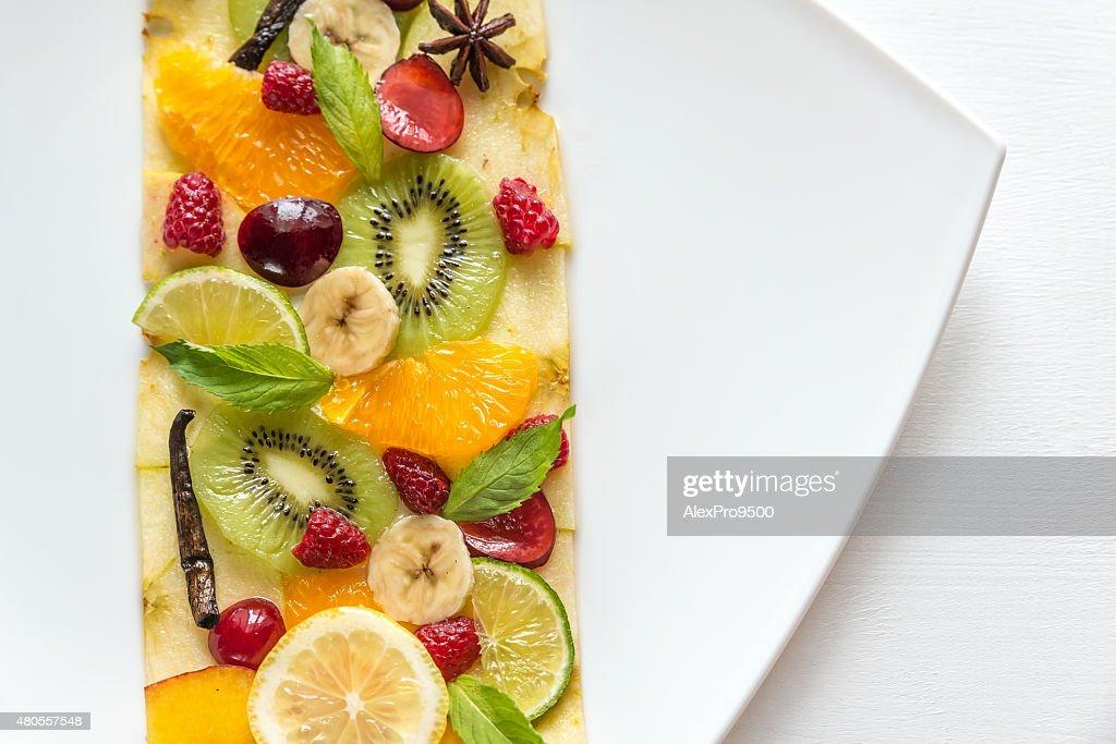 Fruit and berry carpaccio : Stock Photo
