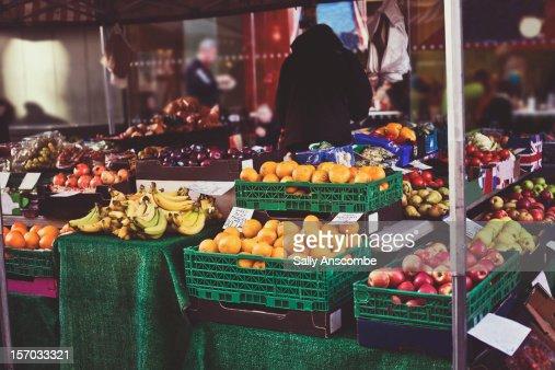 Fruit and veg stall : Stock Photo
