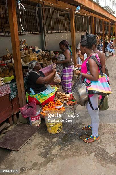 Fruit and vegetable market in Paramaribo