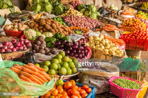 Fruit and Vegetable Market : Stock Photo