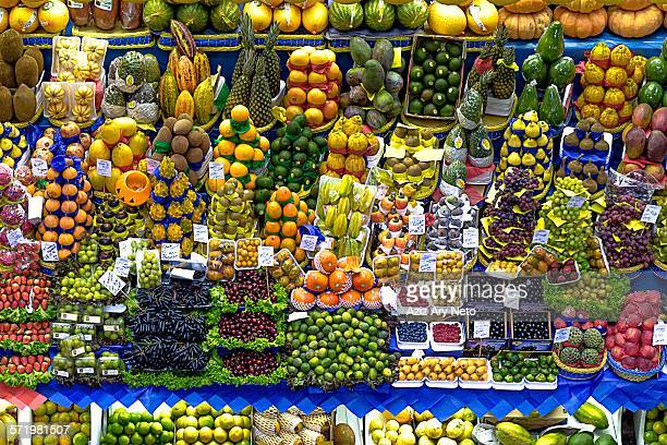 Fruit and vegetable market stall, Sao Paulo, Brazil