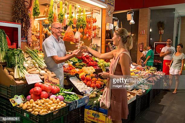 Fruit and vegetable shop at Mercado de Triana