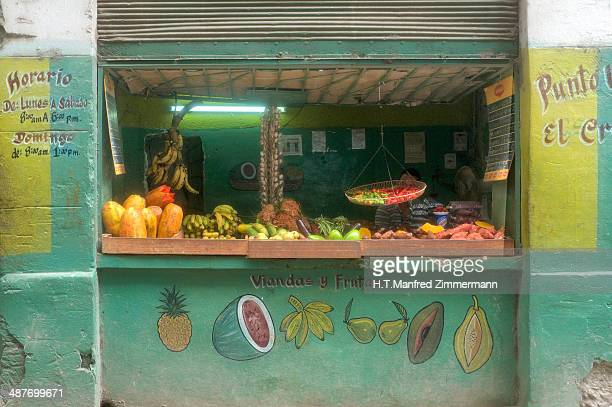 Fruit and vegetable shop in Old Havana, Cuba