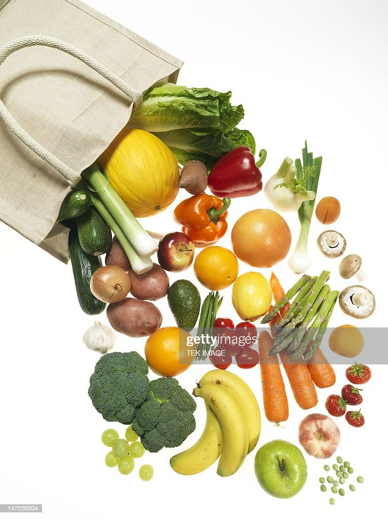 Fruit and vegetables : Stock Photo