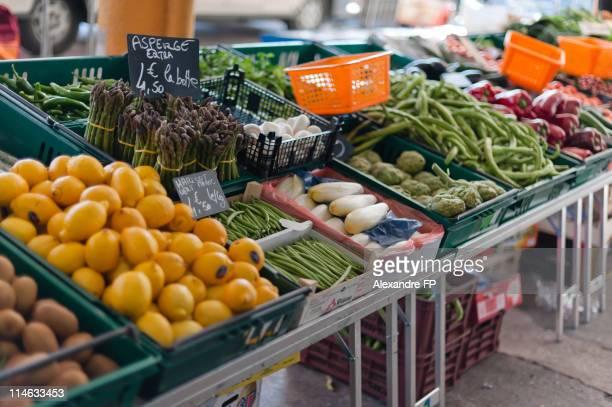 Fruit and Veggies in a Farmer Market in Brignoles