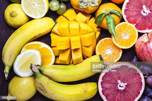 Fruit Board Close up on Mango