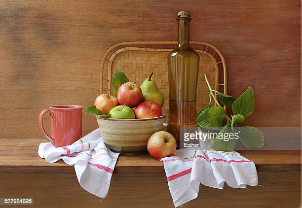 Fruit, Bottle and Towel