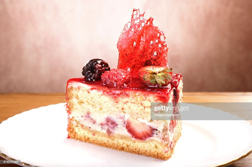 fruit cake slice : Stock-Foto