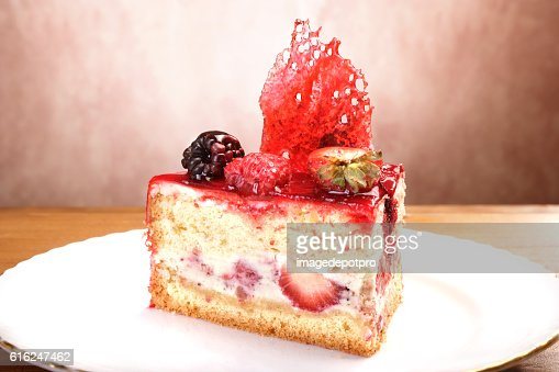 fruit cake slice : Stock Photo