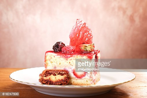 fruit cake slice : Foto de stock