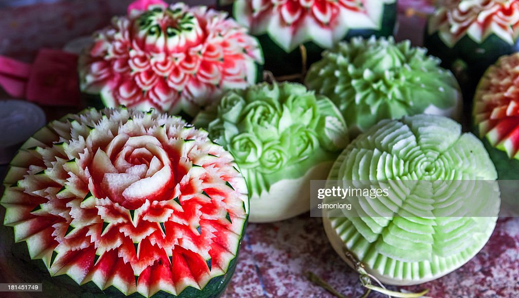 Fruit carving stock photo getty images
