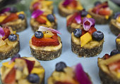 Fruit dessert detail at Rainbeau Mars E Book Brunch Celebration on July 22 2016 in Beverly Hills California