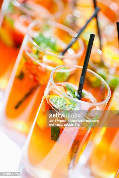 Fruit drinks with straw