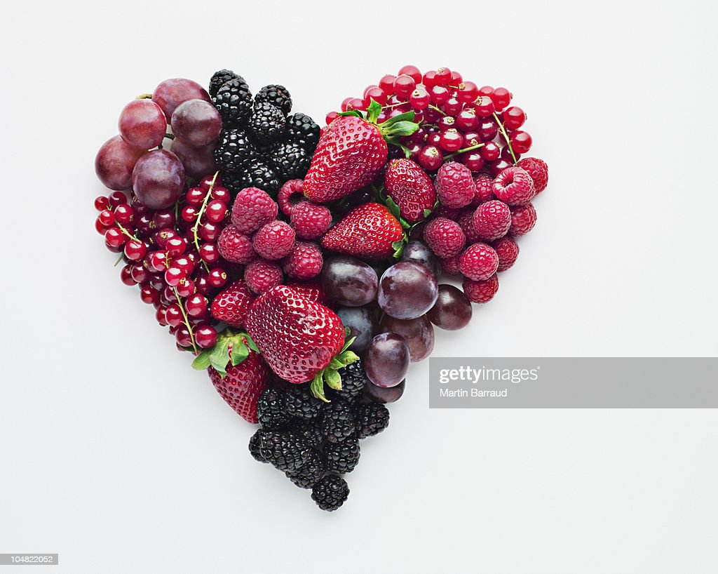 Fruit forming heart-shape : Stock Photo
