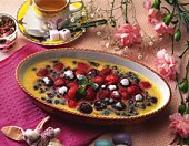 Fruit Gratin with Strawberry, High Angle View