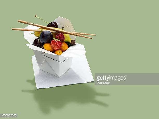 Fruit in takeout container