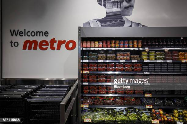 Fruit is displayed for sale inside a Metro Inc grocery store in Toronto Ontario Canada on Monday Oct 2 2017 Canadian grocer Metro Inc agreed to buy...