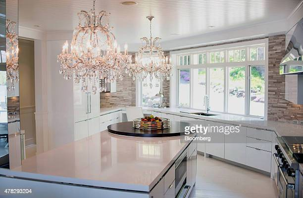 Fruit is displayed on the island of a kitchen in a cottage on Lake Jo in Muskoka Ontario Canada on Saturday May 23 2015 The Canadian sanctuary of...