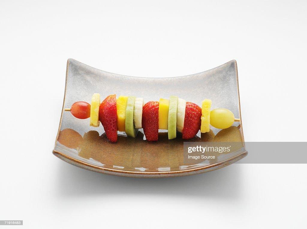 Fruit kebab : Stock Photo