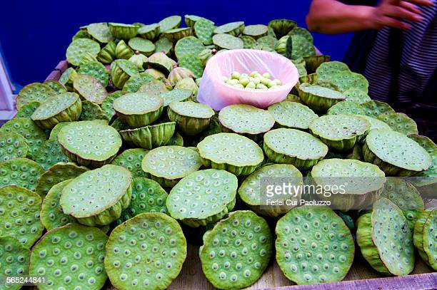Fruit of Lotus for sale at Street Market of Wuhan