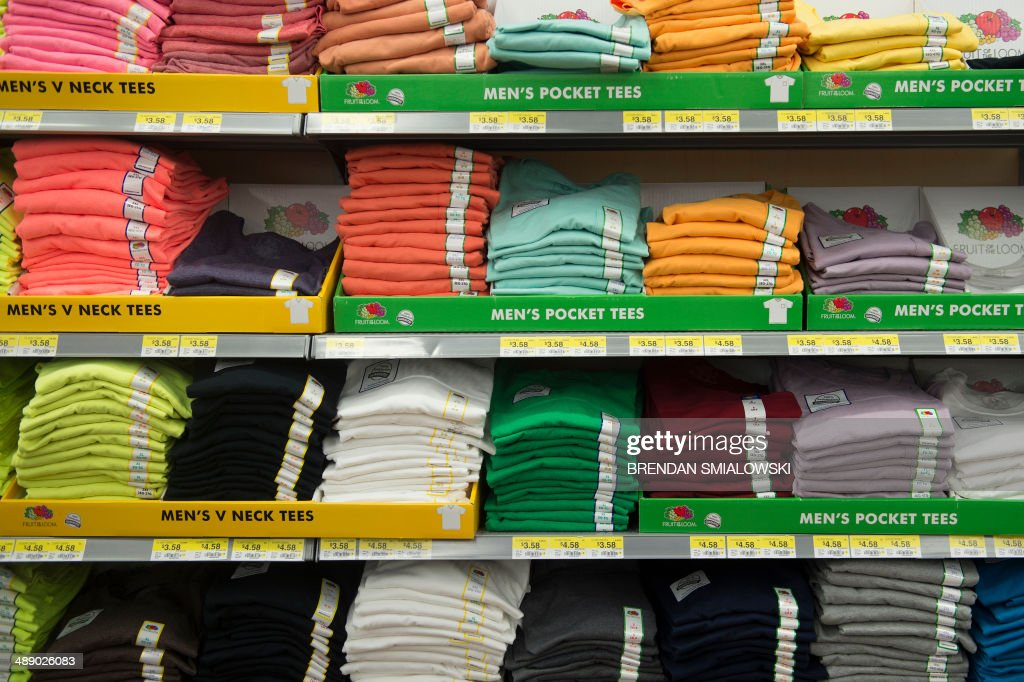 fruit of the loom t shirts are seen at a walmart store on. Black Bedroom Furniture Sets. Home Design Ideas