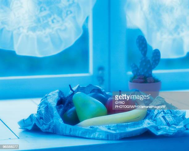 Fruit on a window sill